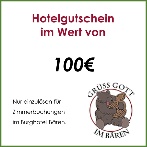 Hotelgutschein - 100€