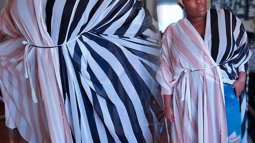 Classic Stripes Resort Kimono + tie belt