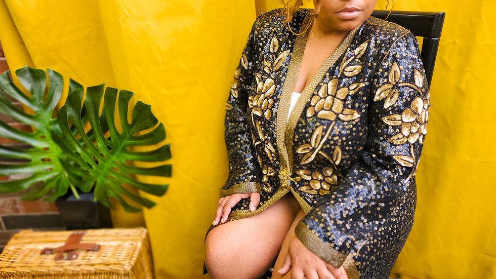 Gold Member sequined jacket