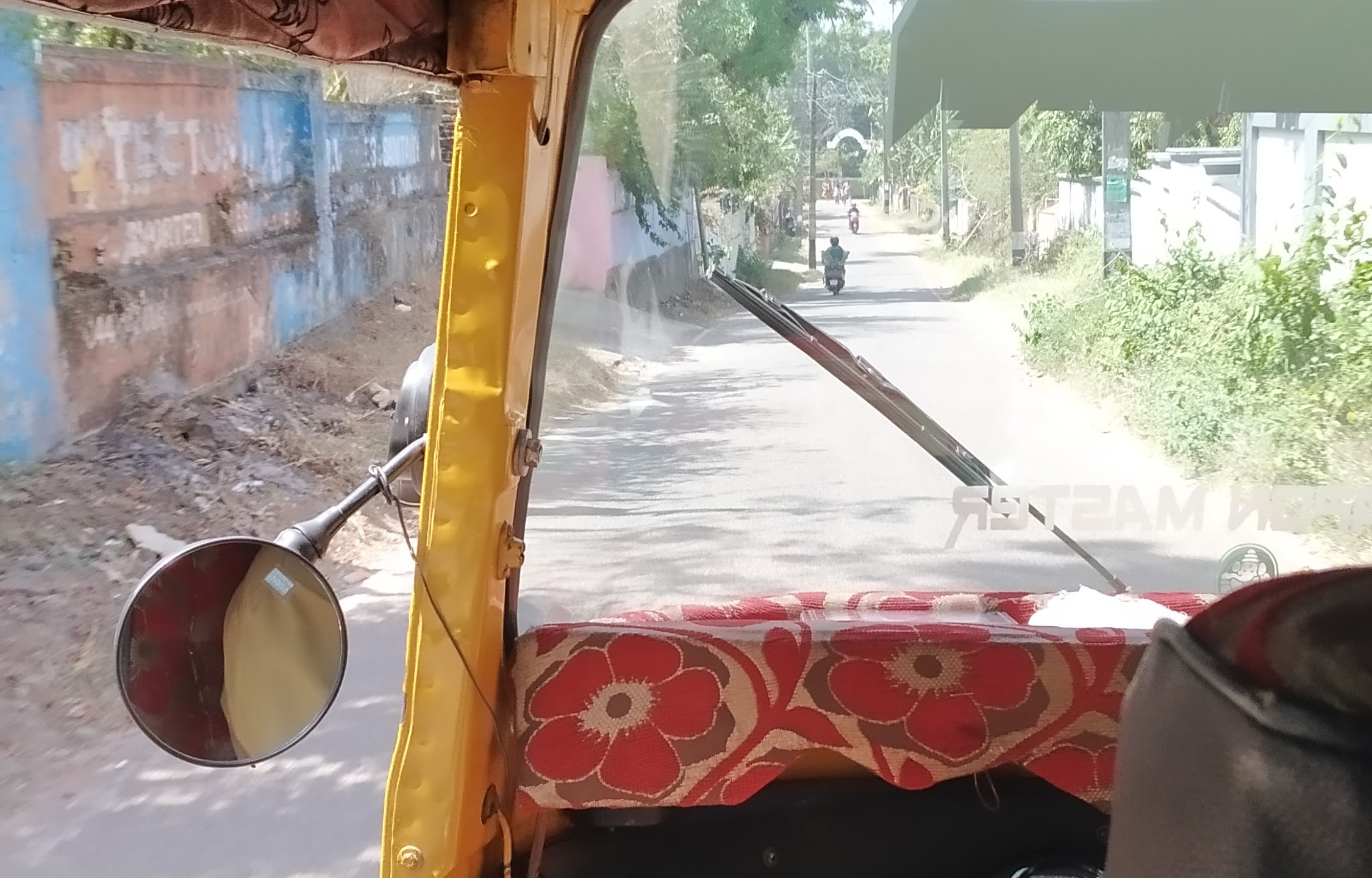 Auto ride to Bamboo Village
