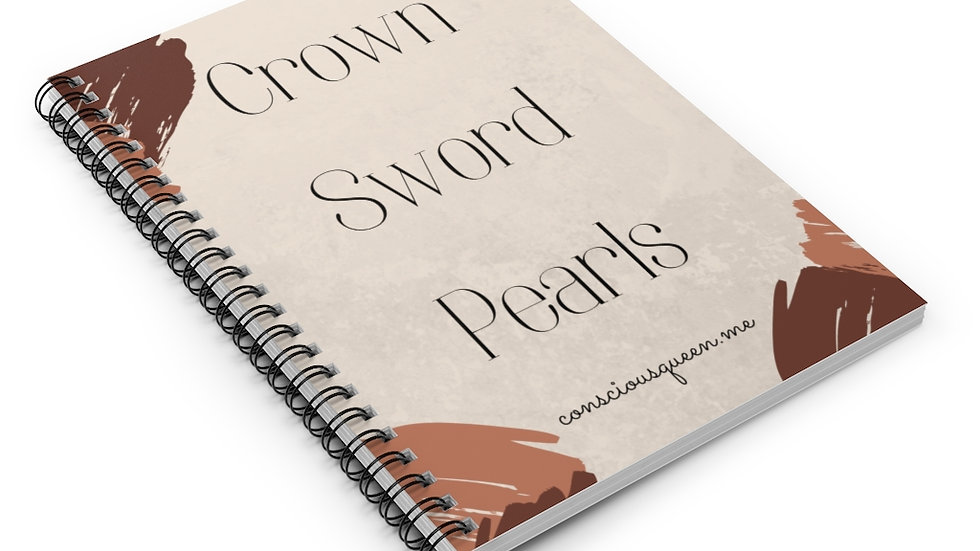 Crown, Sword, Pearls Spiral Notebook - Ruled Line