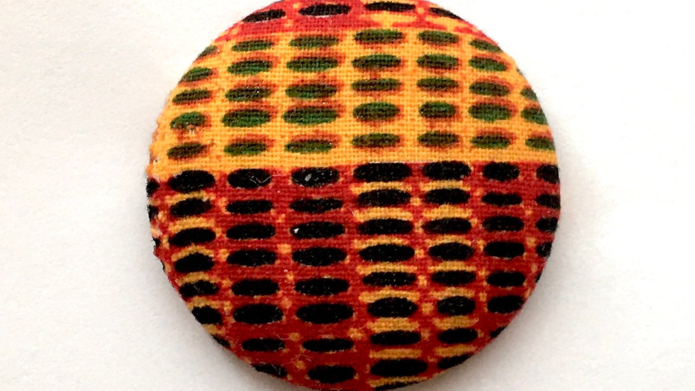 """Ankara Print"" Button Earrings $5-$15"