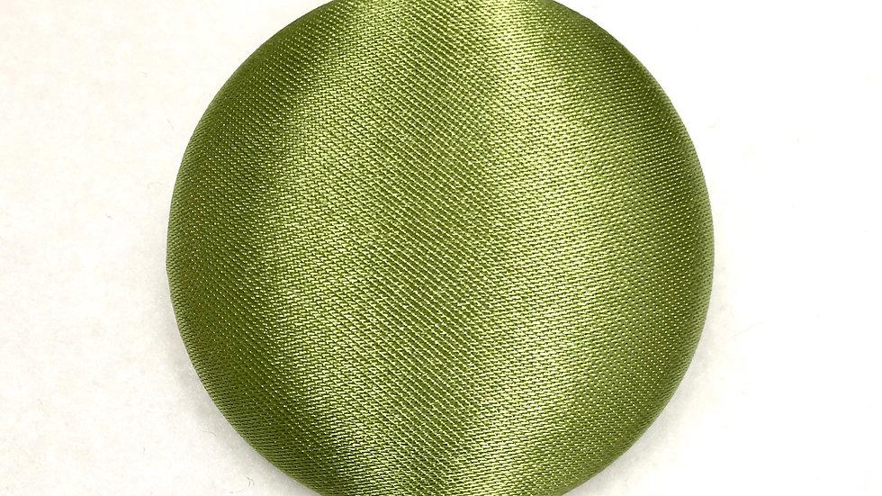 """Green Satin"" Button Earrings $5-$15"