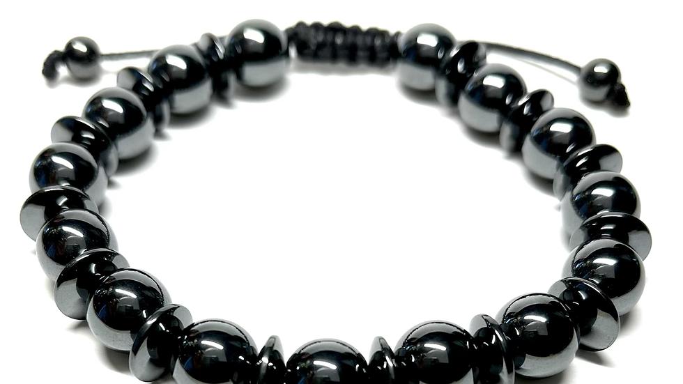 Men's Adjustable Bracelet (hematite)