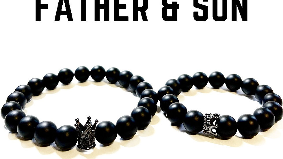 Father and Son Bracelet Set