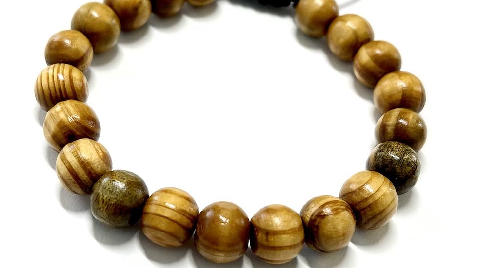 Men's Adjustable Bracelet (wood)