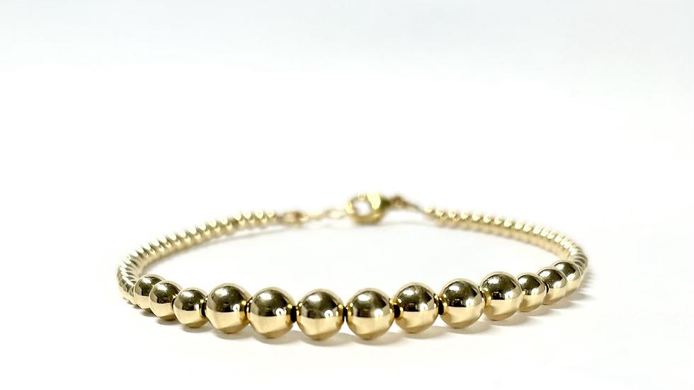 14K Gold Filled Beaded Bracelet