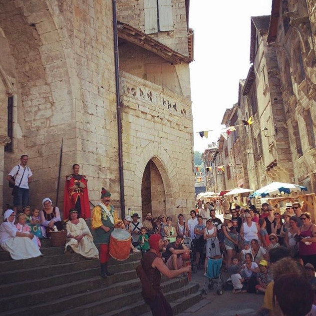 Caylus medieval market, July
