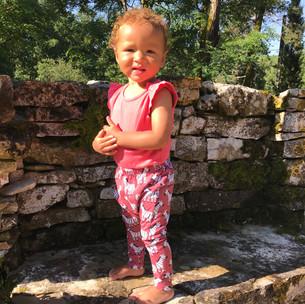Phoebe in zebra print harem pants