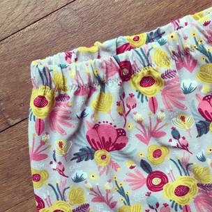floral bouquet harem pants
