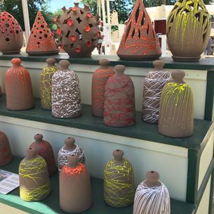 pottery market, Caylus, August