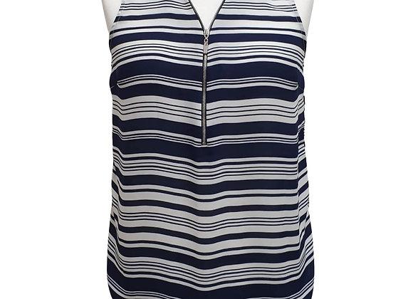 Atmosphere blue/white striped sleeveless top UK12