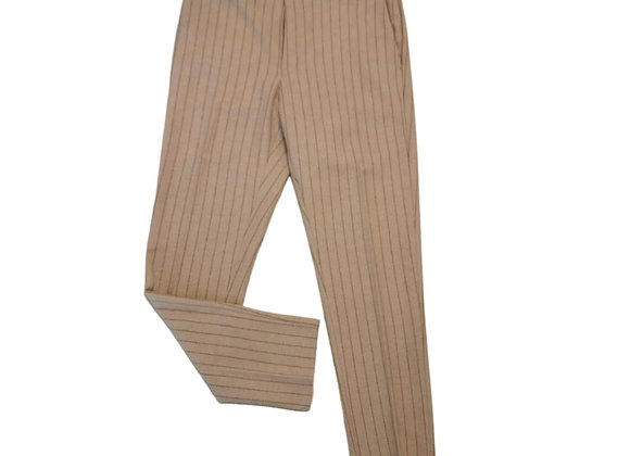 Asos beige pinstripe trousers UK14