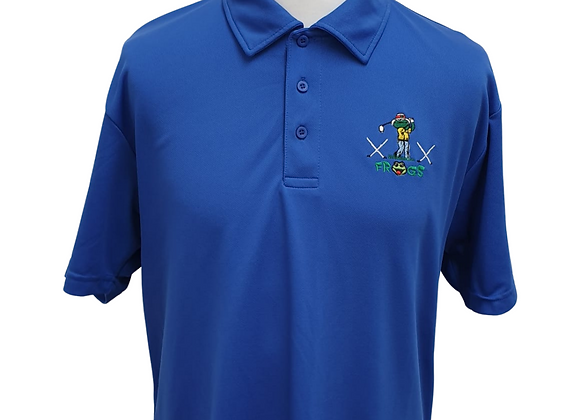 Frogs Blue golf t-shirt size large