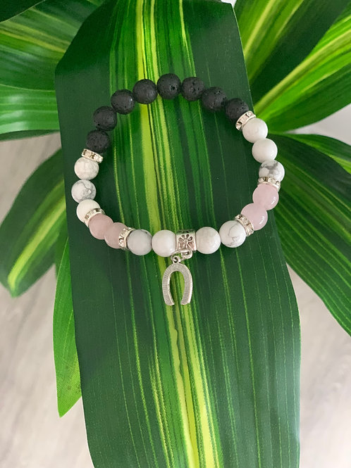 Best of Luck Essential Oil Lava Bracelet