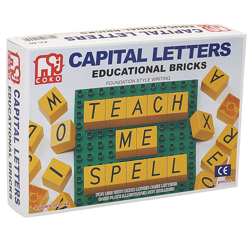 Coko Capital Letters Educational Bricks