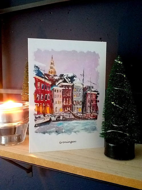 Handwritten Christmas Card Winter Groningen