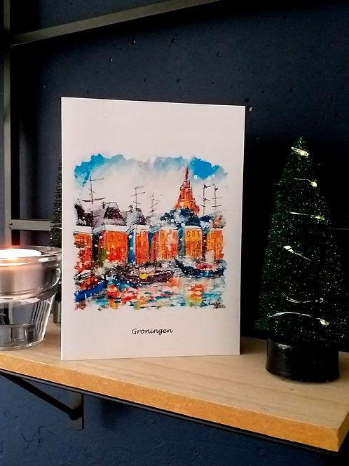 Handwritten Christmas Card Winter Groningen