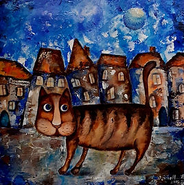 Cat Acrylic on canvas