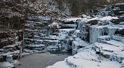 Frozen Waterfalls at Ledges, Poconos