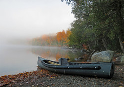 Canoe at Moose Pond