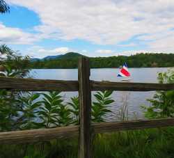 Sailboat on Mirror Lake