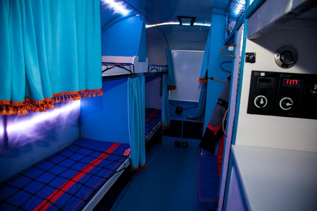 airstream bunk area