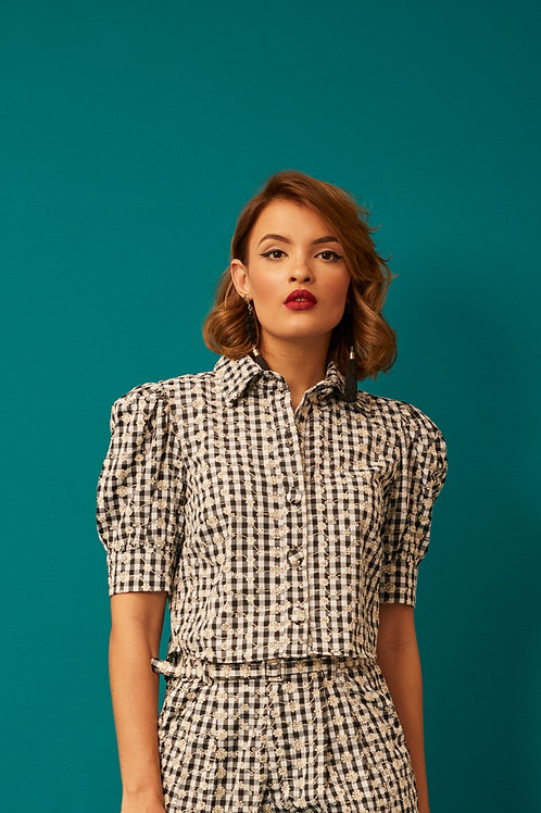 CAMISA CROPPED LAISE VICHY