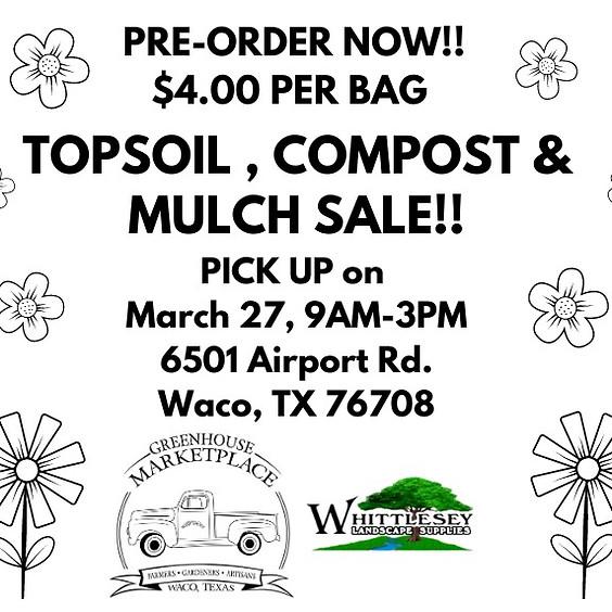 Mulch, Compost, Topsoil Sale