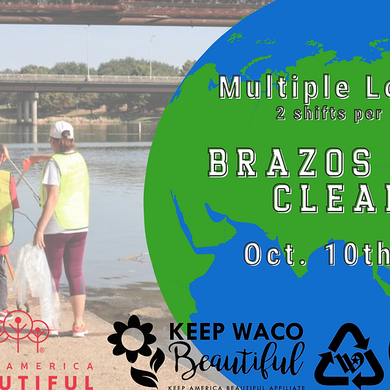 Brazos River Cleanup: Multiple locations