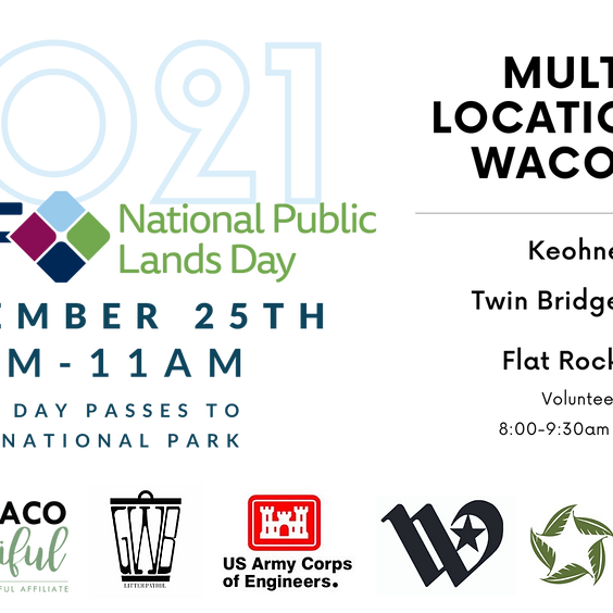 National Public Lands Day: Waco Lake Cleanup