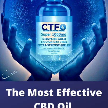 Most Effective CBD Oil For Pain Relief