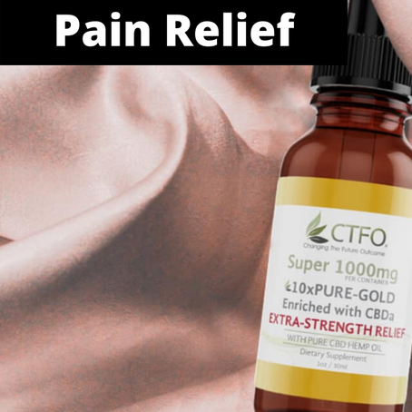 Extra-Strength Pain Relief With CBD Oil