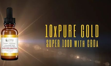 CTFO's 10xPURE GOLD SUPER 1000 with CBDa