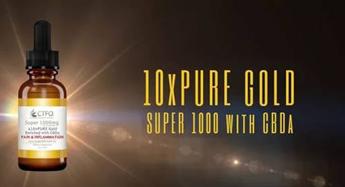 10xPURE™ GOLD SUPER 1000mg with 6 mg of CBDa per Serving