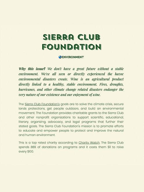 The Sierra Club Foundation Donation