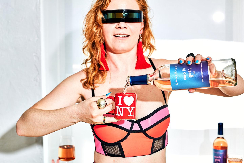 Woman-in-crop-top-futuristic-sunglasses-