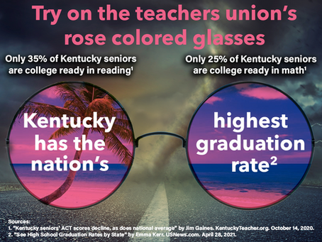 Try on the teachers union's rose colored glasses
