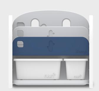 iFam Bookshelf Blue 書架收納組 藍 68x36x62.5cm