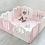 Thumbnail: iFam Sweetheart Baby Room Pink (S) 心心圍欄 粉紅(小) 148x148x61.4cm