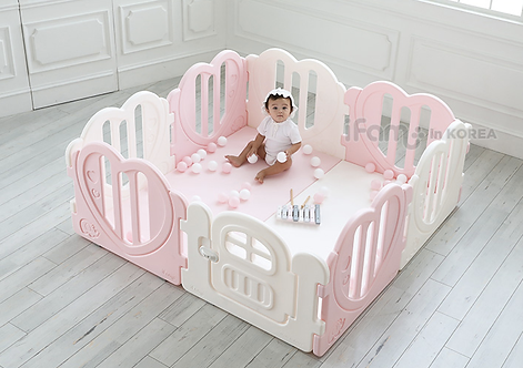 iFam Sweetheart Baby Room Pink (S) 心心圍欄 粉紅(小) 148x148x61.4cm
