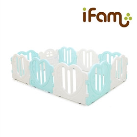 iFam Sweetheart Baby Room Mint (L) 心心圍欄 薄荷綠 (大)  220x148x61.4cm