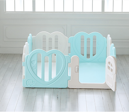 iFam Sweetheart Baby Room Mint (S) 心心圍欄 粉綠(小) 148x148x61.4cm