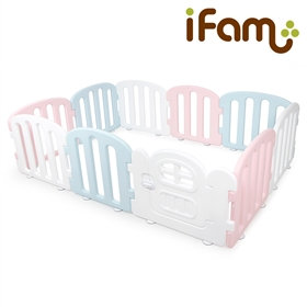 First Baby Room P+B+W  簡約風圍欄 粉紅+藍+白 207x147x60cm