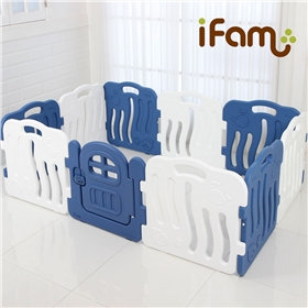 iFam Shell Baby Room Blue  (L) 貝殻圍欄 藍 (大)198x133x60cm