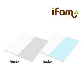 iFam RUUN Shell 2-fold Playmat Mint/Grey  灰綠遊戲地墊 131x131cm