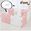 Thumbnail: 【Set】 iFam Shell Baby Room Pink (S) + Mat  【組合】 貝殻圍欄 灰粉紅 (小) + 地墊  133x133