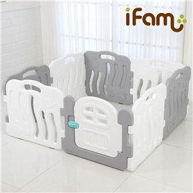 iFam Shell Baby Room Grey (S)  貝殻圍欄 灰 (小)133x133x60cm