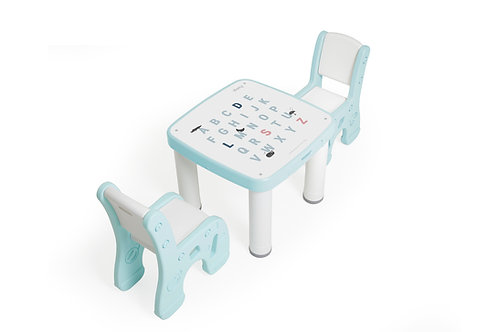 iFam Bookshelf Little Table Set Mint 趣緻學習枱套裝 薄荷綠 58x58x49cm