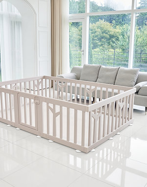 iFam Birch Baby Room Brown  樺木圍欄啡 217x146x62.5cm